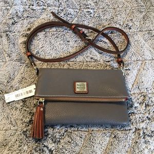 NWT dooney and burke leather crossbody bag.